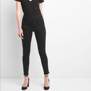 Gap Black Denim High Waisted True Skinny Jeans